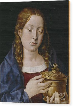 Catherine Of Aragon As The Magdalene Wood Print by Michiel Sittow