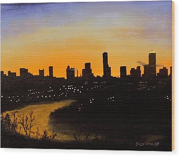 Wood Print featuring the painting Catherine's Sunrise by Jack Skinner