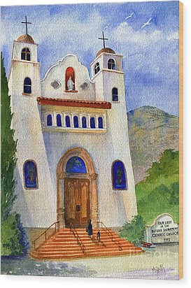 Catholic Church Miami Arizona Wood Print