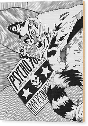 Catnap Wood Print by Matthew Howard