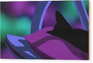 Wood Print featuring the digital art Catnip by Tom Dickson