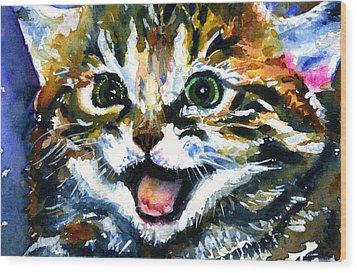 Cats Eyes 15 Wood Print