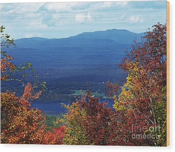 Catskill Mountains Photograph Wood Print by Kristen Fox