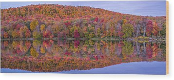 Wood Print featuring the photograph Catskill Panorama 2 by Mark Papke