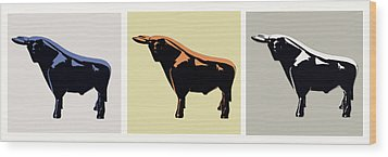 Cattle Baron Wood Print by Slade Roberts