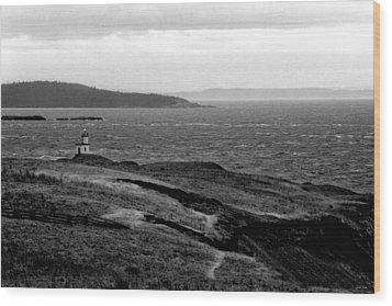 Cattle Point Lighthouse Wood Print