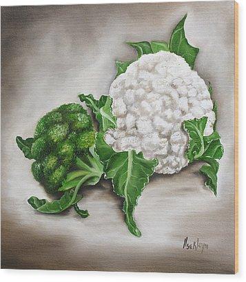 Cauliflower Wood Print by Ilse Kleyn