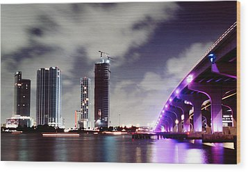 Causeway Bridge Skyline Wood Print by Gary Dean Mercer Clark