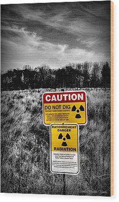 Wood Print featuring the photograph Caution by Michaela Preston