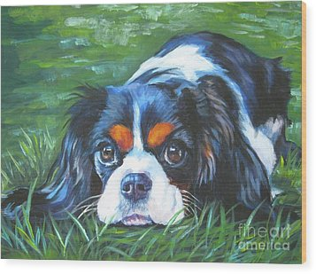 Cavalier King Charles Spaniel Tricolor Wood Print