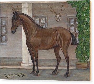Cavalry Horse Wood Print by Anna Folkartanna Maciejewska-Dyba