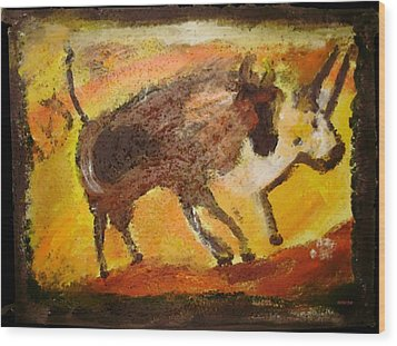 Cave Art Wood Print by Shelley Bain
