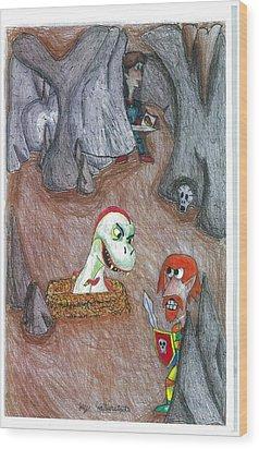 Cave Wood Print by Jayson Halberstadt
