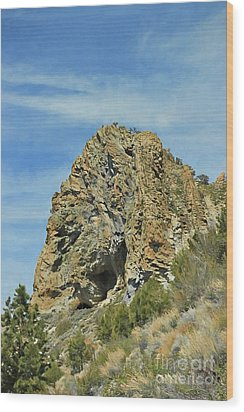 Wood Print featuring the photograph Cave Rock At Tahoe by Benanne Stiens