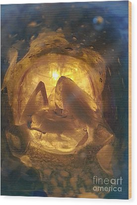 Cavern Light Wood Print