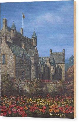 Cawdor Castle In Summertime Wood Print by Sean Conlon