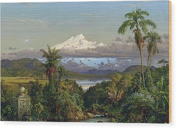 Cayambe Wood Print by Frederic Edwin Church