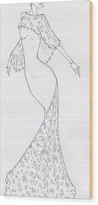 Cb43 Wood Print by Christine Corretti
