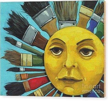 Cbs Sunday Morning Sun Art Wood Print