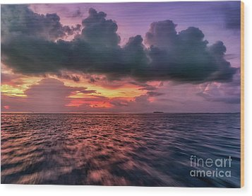 Wood Print featuring the photograph Cebu Straits Sunset by Adrian Evans