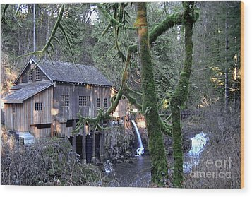 Wood Print featuring the photograph Cedar Creek Grist Mill by Larry Keahey