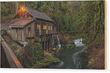 Cedar Grist Mill Wood Print