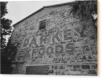 Cedar Key Sea Foods Wood Print by David Lee Thompson