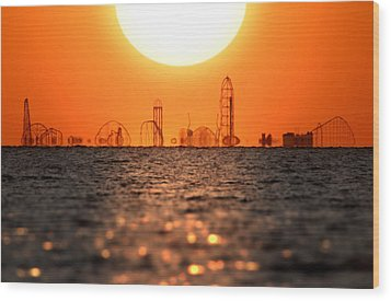 Cedar Point Skyline 2 Wood Print