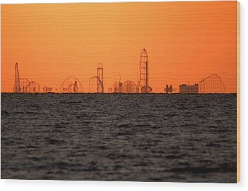 Cedar Point Skyline Wood Print