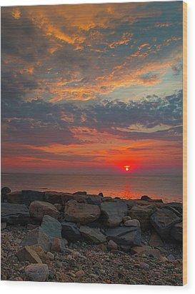 Cedar Point Sunrise Wood Print