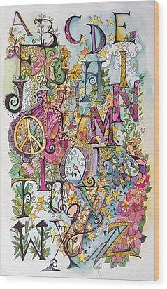 Celebrate Wood Print by Claudia Cole Meek
