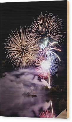 Celebration Wood Print by Greg Fortier