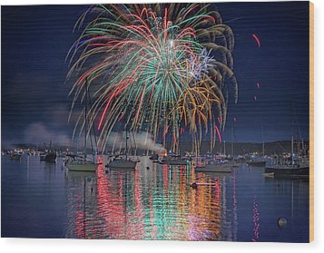 Wood Print featuring the photograph Celebration In Boothbay Harbor by Rick Berk