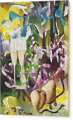 Celebration Wood Print by Sarah Loft