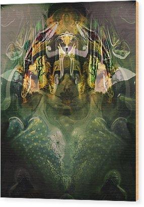 Wood Print featuring the digital art Celerian by Lynda Lehmann