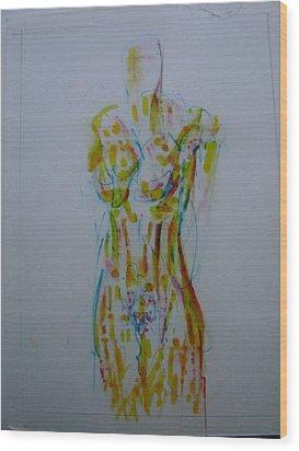 Celery Wood Print by Dean Corbin
