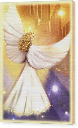 Celestial Angel Wood Print