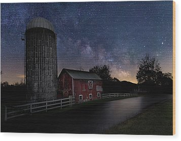 Wood Print featuring the photograph Celestial Farm by Bill Wakeley