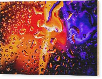 Celestial Fusion Break  Wood Print by Bruce Pritchett