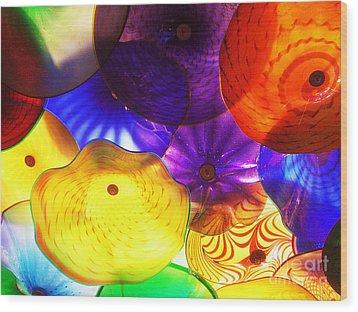 Celestial Glass 3 Wood Print by Xueling Zou