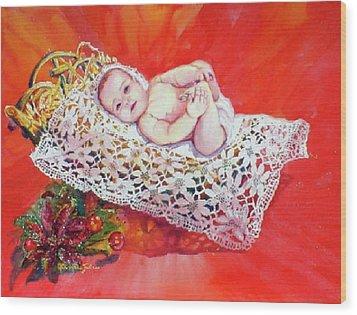 Celestial Grace Wood Print by Estela Robles
