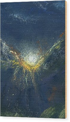 Celestial Wood Print by Marilyn Barton