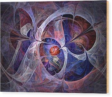 Wood Print featuring the digital art Celestial North - Fractal Art by NirvanaBlues