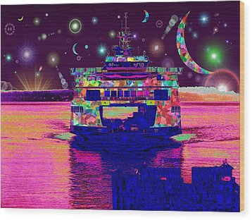 Celestial Sailing Wood Print by Tim Allen