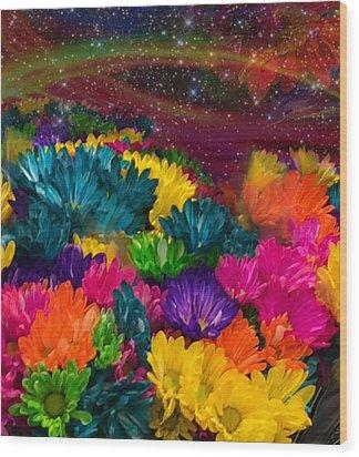 Celestial  Summer  Wood Print
