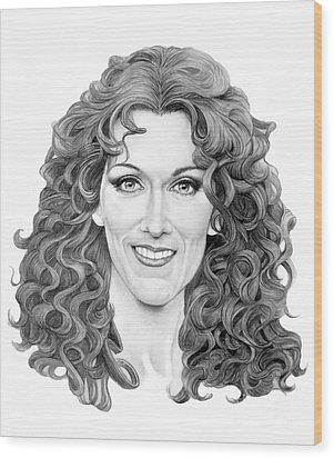Celine Dion Wood Print by Murphy Elliott