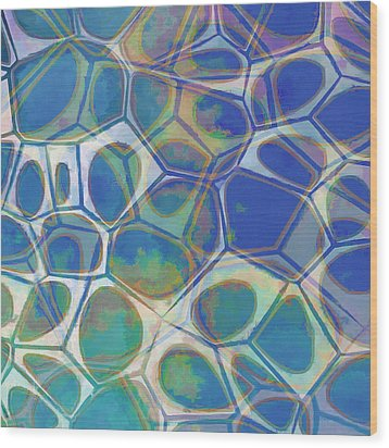 Cell Abstract 13 Wood Print by Edward Fielding