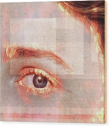 Wood Print featuring the photograph Cellmate 0542 by Carol Leigh