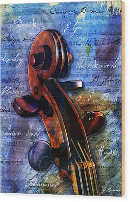Cello Masters Wood Print by Gary Bodnar