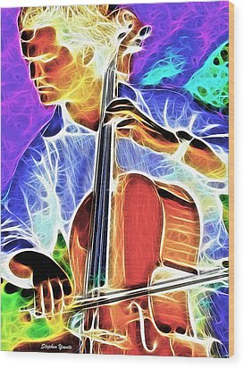 Cello Wood Print by Stephen Younts
